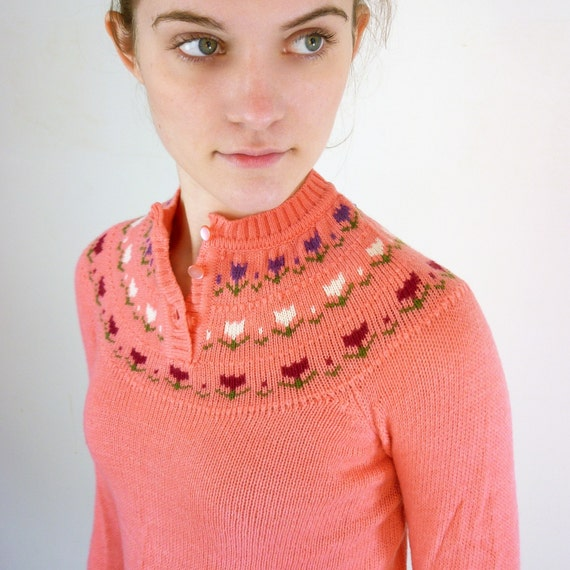 Tulip Sweater / Cropped Pink Sweater
