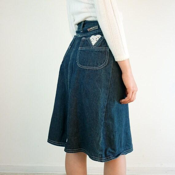 1990s Denim Skirt / 90s Skirt