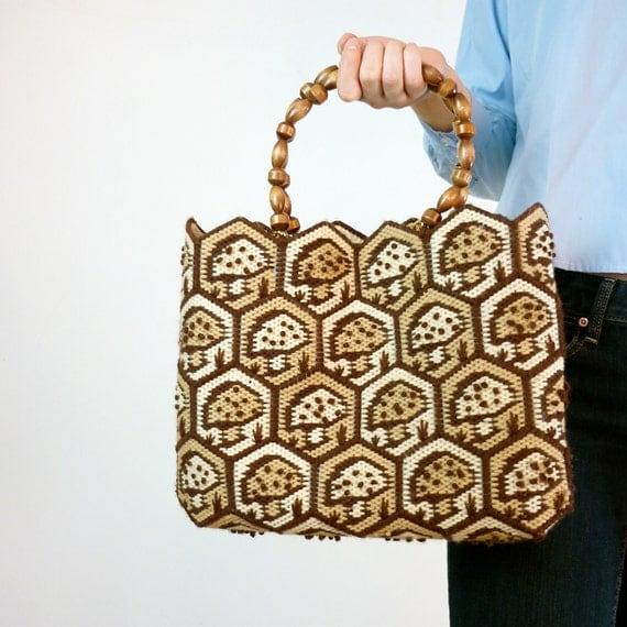 Vintage Mushroom Handbag