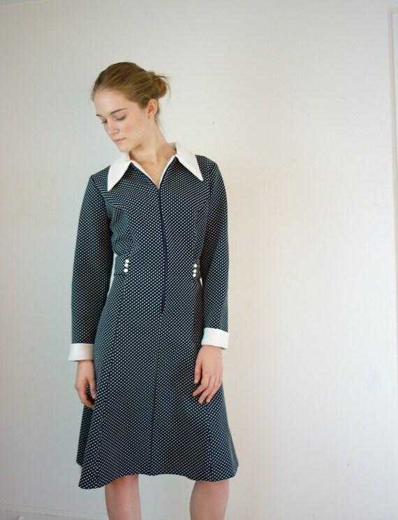 1960s Dress - Polka Dot Dress