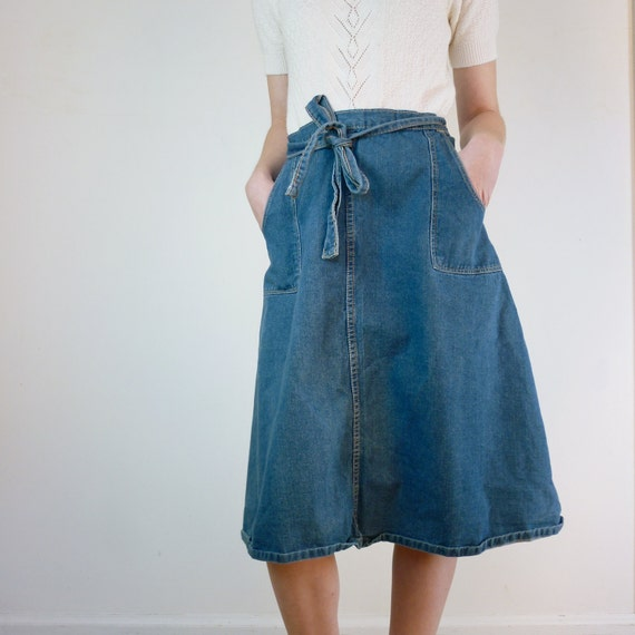 Wrap Skirt / Jean Wrap Around Skirt
