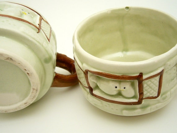 1940's Stackable Bird Mugs