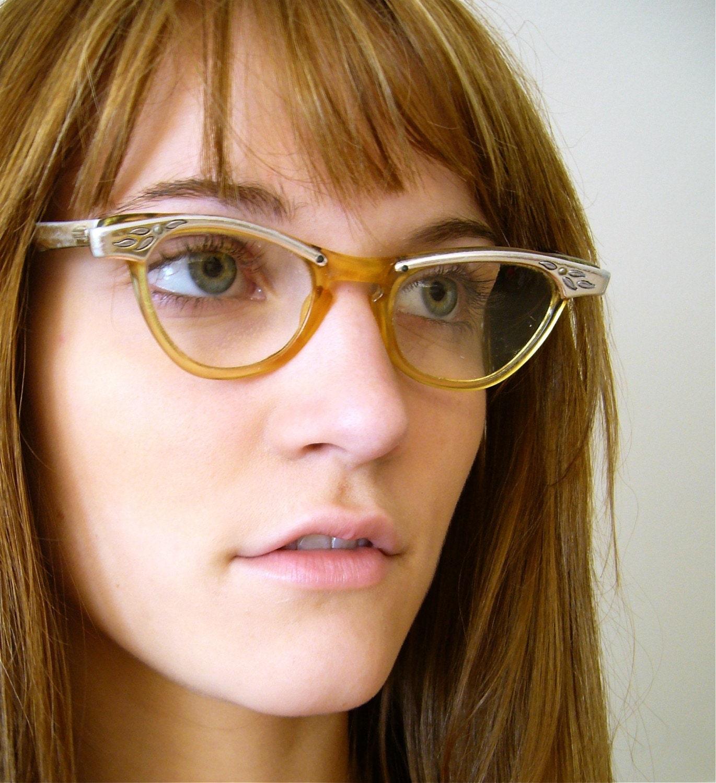 Cat Eye Glasses Print Dress