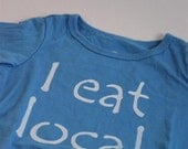 Blue Organic Baby Onsie- I eat local