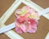 Infant Hydrangea Headband / Photo Prop