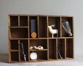 Vintage Wood Shadowbox Shelf