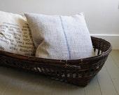 NEW PRICE Old Primitive Asian Harvest Basket