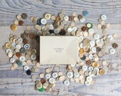 Vintage Box of 100 Pretty Buttons