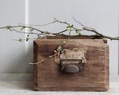 Antique Wood Planter Box