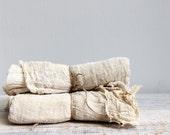 Vintage Fabric Yardage, Supplies - Hand Dyed Gauze