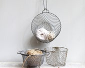 RESERVED  Vintage Wire Basket Set