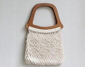 ON SALE  Vintage Macrame Handbag