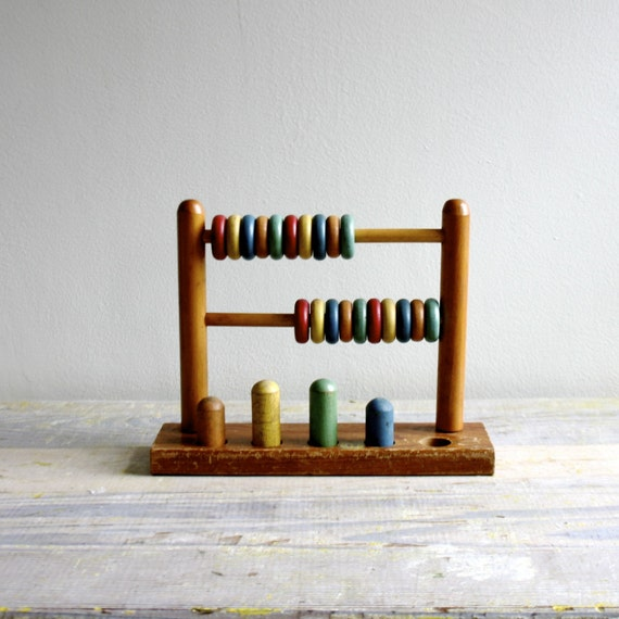 Vintage wooden jaymar abacus toy by ethanollie on etsy for Vintage sites like etsy