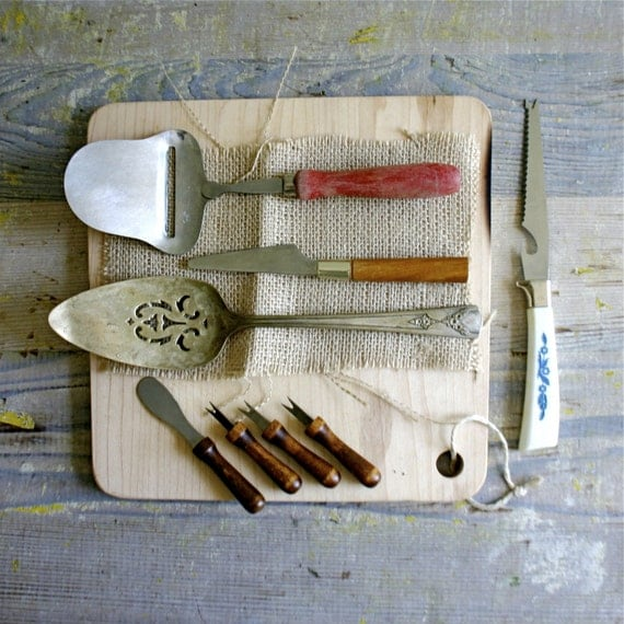 Vintage Collection of Cheese Slicing Utensils