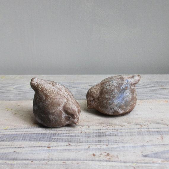 Vintage Pottery Birds - RESERVED
