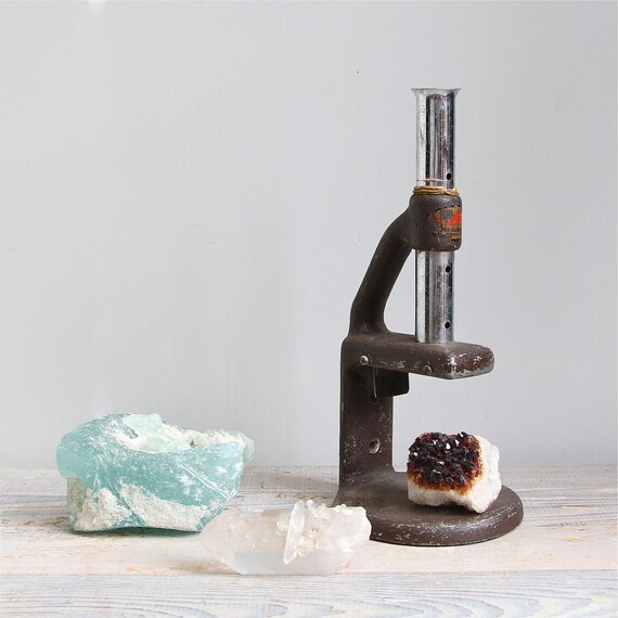 ON SALE  Vintage Industrial Microscope Casing