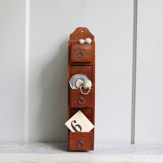 Vintage Wood Storage Drawers