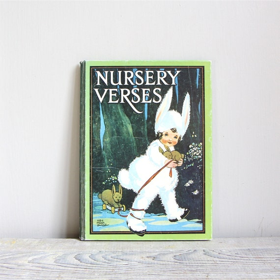 ON SALE  Vintage English Nursery Verses Book