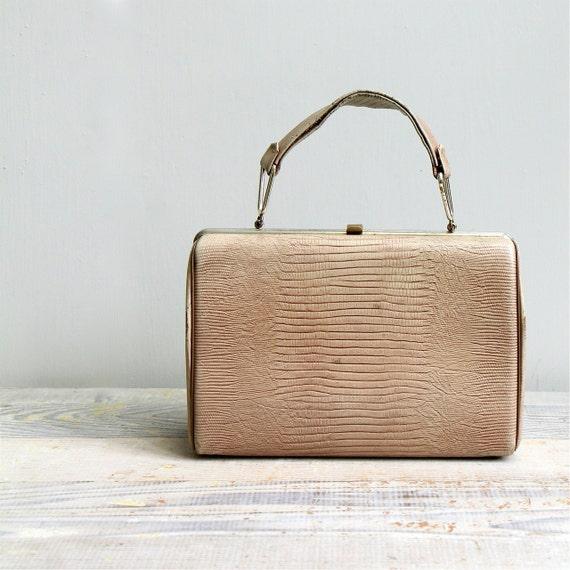 ON SALE  Vintage 1950's Snakeskin Handbag