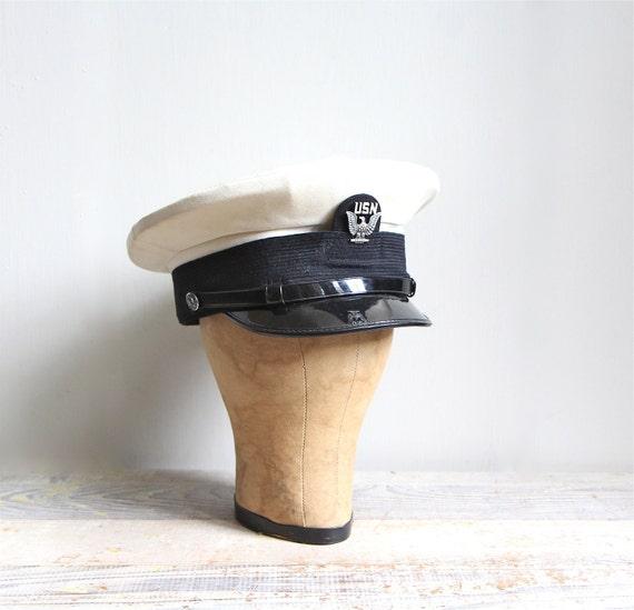 Vintage Military US Navy Cap / Halloween Costume