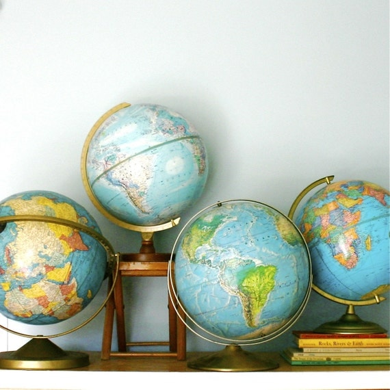 Geography 101...Vintage Globe Collection