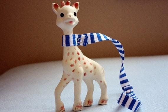 Sophie leash- Blue stripe