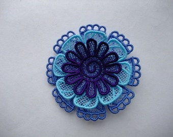 Embelishment Layered Lace 3 Colored Flower