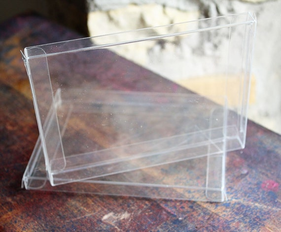 4 1/2 x 1/2 x 5 7/8 Clear Greeting Card Boxes (holds 6) 5/PK
