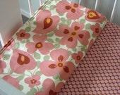 Cot (Crib) Bedding Set - Morning Glory Pink