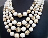 Vintage Four Strand Necklace Japan
