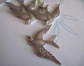 Pretty Swallow Brass Bird Stamping