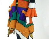 Multicolored Sweater Coat,  Size Extra Small (2,4) Petunia Style,