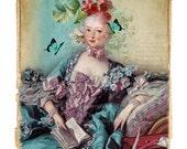 Madame De Pompadour French Art Print Giclee Collage