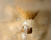 Up in the clouds - Photo print - Paper diorama - letter size