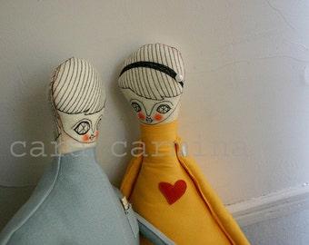 Valentines - Dolls in love - photo print - romantic dolls - letter size
