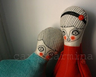 Valentines - Sweet Couple - photo print - dolls in love - letter size