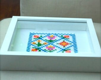 Hama beads floral folk picture