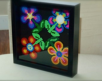 Hama beads flower pattern