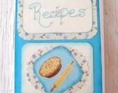 Recipe Album - Vintage Teal & Pie