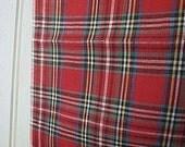 Plaid chambray selvedge pocket square - eco vintage fabric