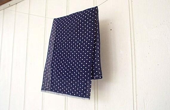 Selvedge indigo swiss dot pocket square - eco vintage fabric - last one