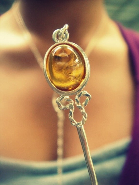 Bubble Blower Necklace.- Glass