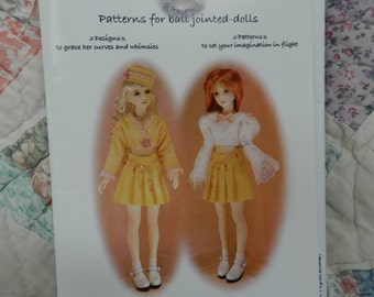 Gracefaerie Designs Pattern no 14 for Ball Jointed Dolls Mini Wardrobe Pattern Narae Doll