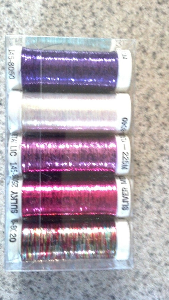 Top 10 Sulky Embroidery Silver Metallic Thread Package of 10