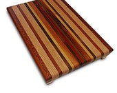 Handmade Large Wood Cutting Board - Create Your Own - Lacewood & Bloodwood