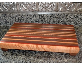 Padauk Cutting Board - Wedding Gift - Personalized, Housewarming, Custom - FREE ENGRAVING