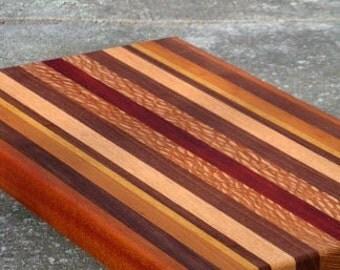 Exotic Wood Cutting Board - Gift Idea, Wedding, Anniversary, Housewarming - FREE ENGRAVING