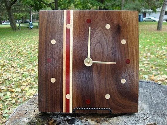 Personalized Engraved Wood Clock - Keepsake - Heirloom - Wall Mantel Desk Clock
