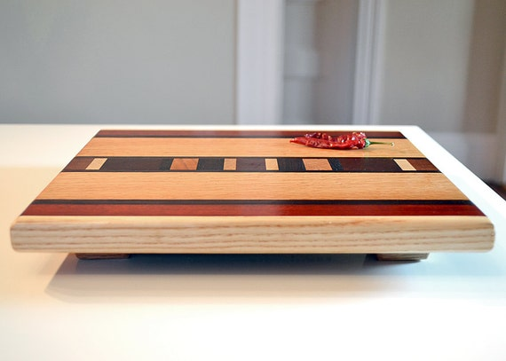 Personalized Laser Engraved Wood Cutting Board - Ash & Bloodwood - Custom Engraved Gift Sushi Cheese Bread Board