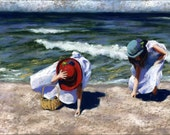 best friends Art Print - sisters painting - a Gift From the Sea - alisa wilcher - 12 x 8